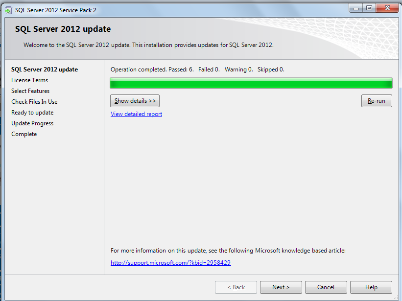 How to install sql server 2012 sp2 on standalone sql server steps to install sp2 sciox Choice Image