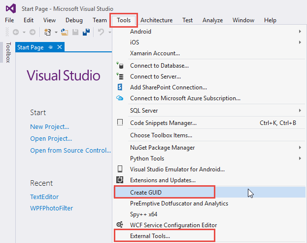 Create GUID Tool in Visual Studio - TechNet Articles