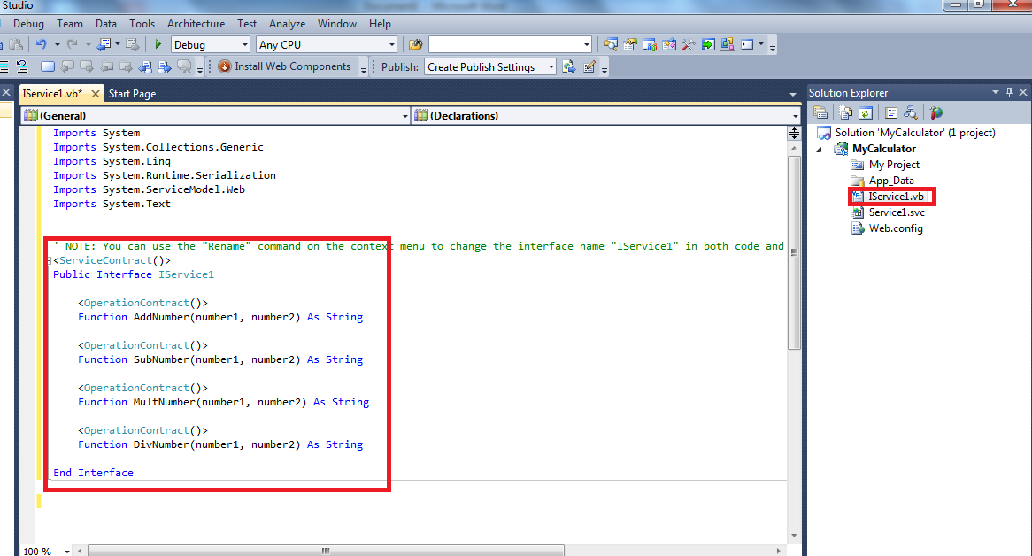 6688a7bdf362c Sample Calculator in WCF using Visual Basic - TechNet Articles ...