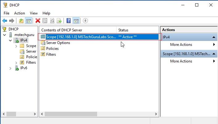 Microsoft Windows Server 2016: DHCP Server Installation