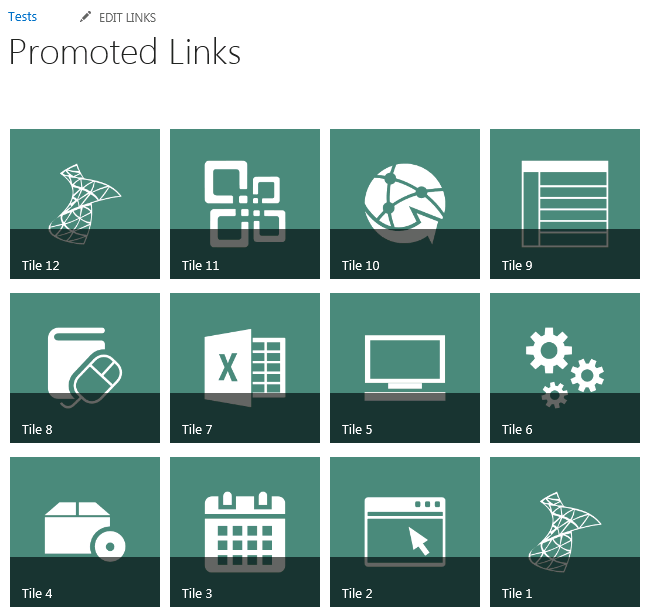 SharePoint 2013: Promoted Links Wrap Tiles - TechNet