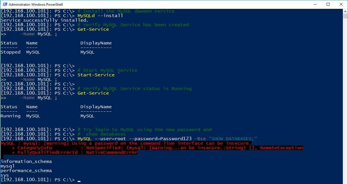 install mysql manually windows 7