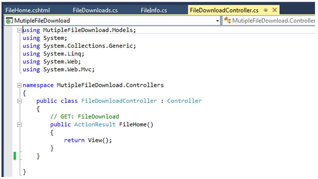 ASP NET MVC 5 Step by Step: Download Multiple Files in Compressed