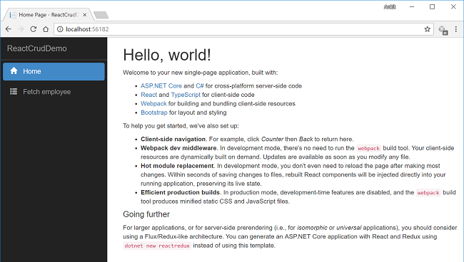 ASP NET Core 2 0: CRUD With React js And Entity Framework