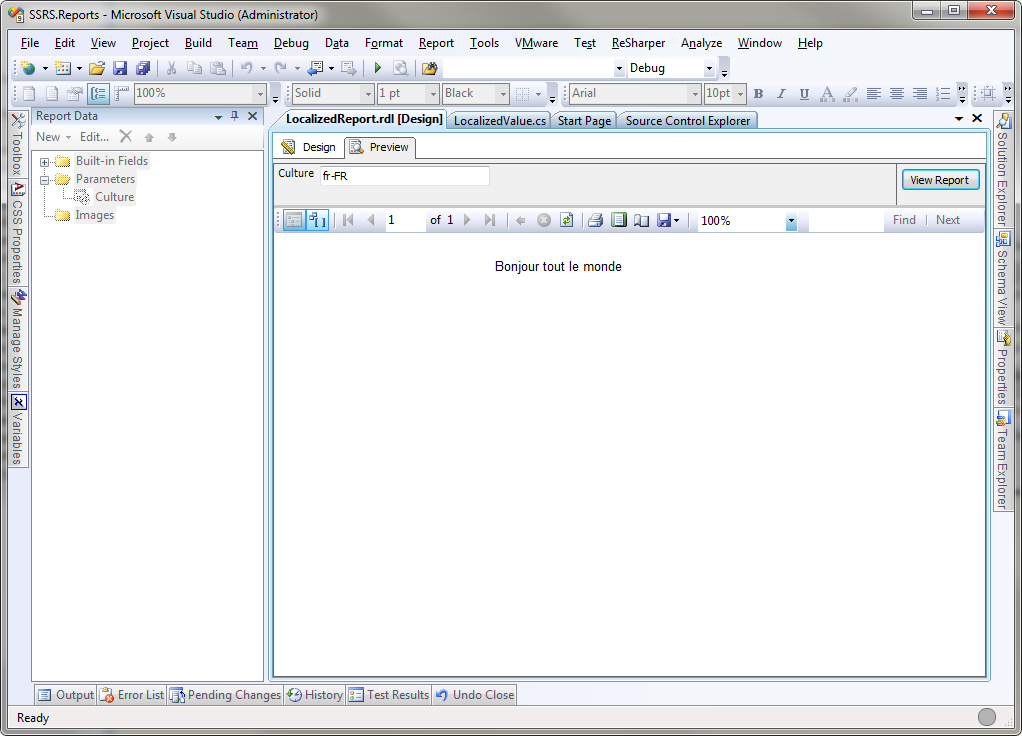 SQL Server 2008 Reporting Services – Localizing Reports