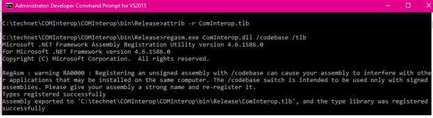 COM Interop: Detail steps to create COM Interop Dll - TechNet
