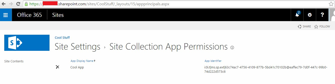 SharePoint Online : Using App Only Policy to create site collection