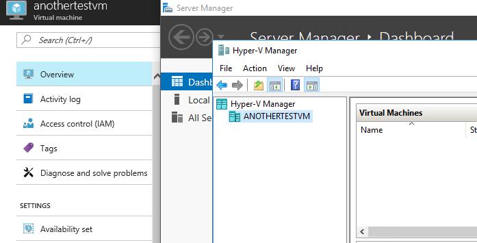Microsoft Azure Nested Virtualization Hyper-V Replica
