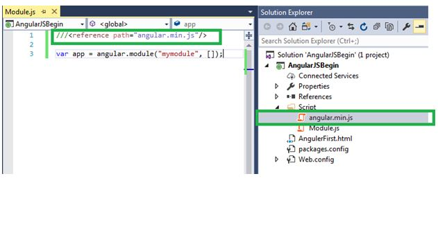 Basics of Directives, Modules, and Controller in AngularJS using ASP