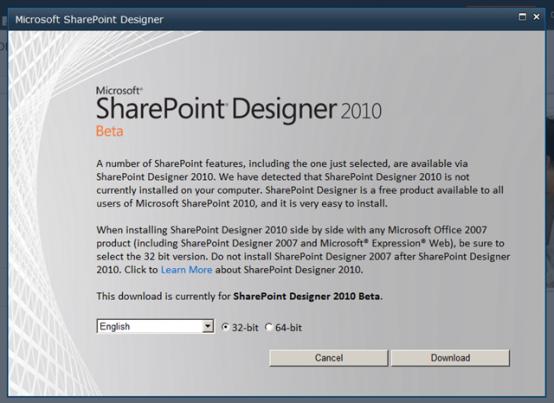 Sharepoint Designer 2007 64 Bit
