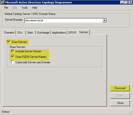 Zmpark Active Directory Topology Diagrammer Ile Topolojinizi