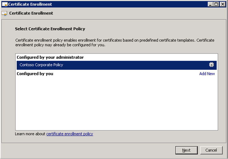 Certificate enrollment web services in active directory certificate client behavior the windows client contacts a certificate enrollment policy yadclub