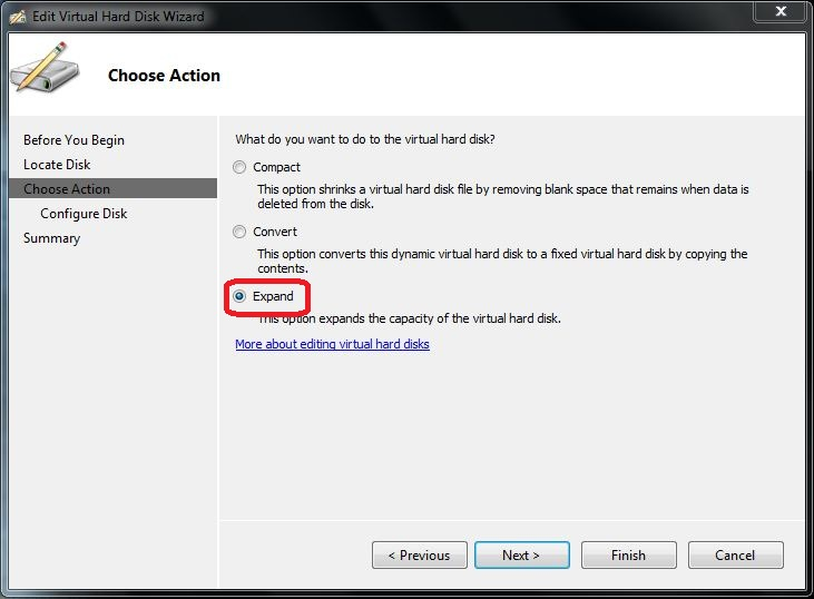 Hyper-V 2008 R2: How to Increase the VHD Size - TechNet